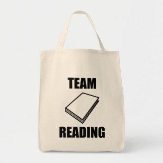 Leitura da equipe bolsas de lona