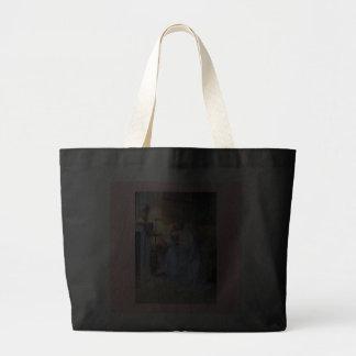 Leitura da mulher pela pintura da antiguidade da l bolsas para compras
