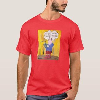 Leitura da poesia, t-shirt das cores escuras do camiseta