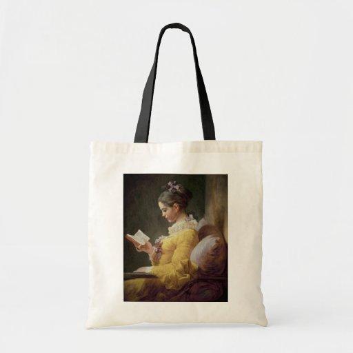 Leitura da rapariga, c.1776 bolsa para compra