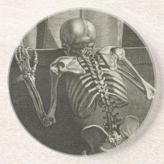 Leitura de esqueleto porta copos de arenito