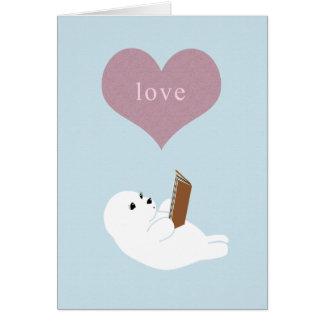 Leitura do amor cartão de nota