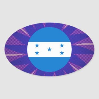 Lembrança da bandeira do Honduran Adesivo Oval