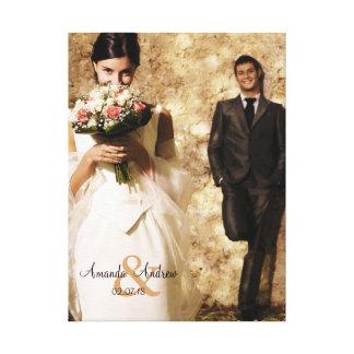 Lembrança da foto do casamento do Ampersand do vin