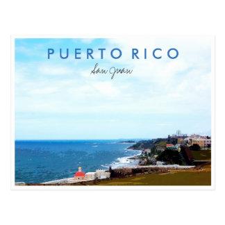 Lembrança da foto do viagem de San Juan Puerto Cartão Postal