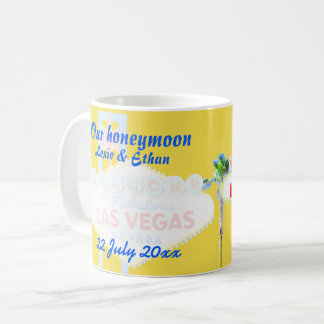 Lembrança da lua de mel de Las Vegas Caneca De Café