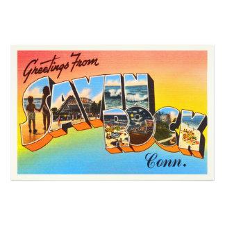 Lembrança das viagens vintage de Connecticut CT da Impressão De Foto