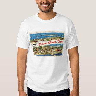 Lembrança das viagens vintage de Corpus Christi T-shirts