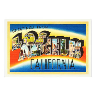 Lembrança das viagens vintage de Los Angeles Impressão De Foto