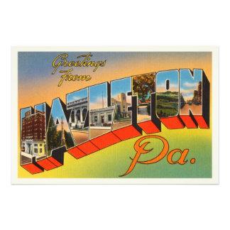 Lembrança das viagens vintage do PA de Hazelton Impressão De Foto
