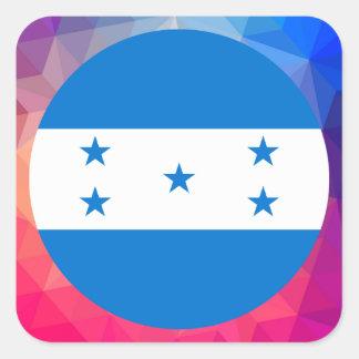 Lembrança de Honduras Adesivo Quadrado