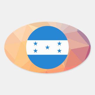Lembrança de Honduras Adesivo Oval