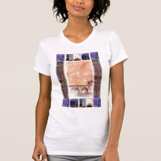 Lembrança do bloco de desenho de PARIS T-shirts