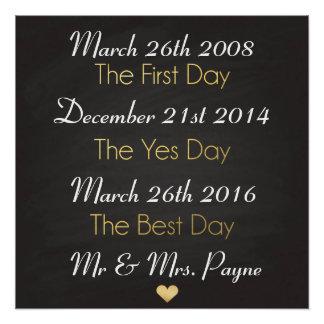 Lembrança do poster da decoração do casamento do poster perfeito