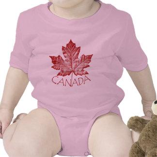 Lembrança legal de Canadá da camisa do bebê de Babadores