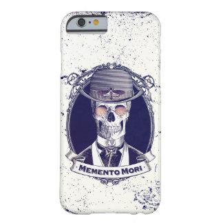 Lembrança Mori da arte do crânio do vintage Capa Barely There Para iPhone 6