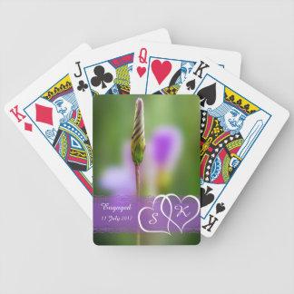 Lembrança personalizada do noivado da flor jogo de carta