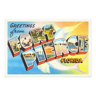 Lembrança velha das viagens vintage de Fort Pierce Impressão De Foto