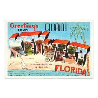 Lembrança velha das viagens vintage de Key West Impressão De Foto