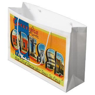 Lembrança velha das viagens vintage de Odessa Sacola Para Presentes Grande