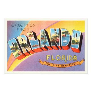 Lembrança velha das viagens vintage de Orlando Impressão De Foto