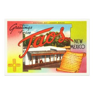 Lembrança velha das viagens vintage de Taos New Impressão De Foto