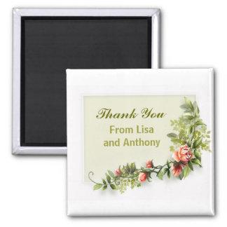 lembranças e presentes dos acessórios do casamento ímã quadrado