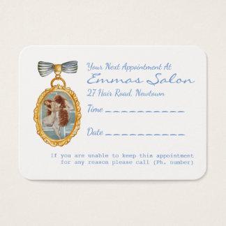Lembrete bonito da nomeação do cabeleireiro do cartão de visitas