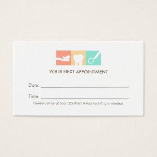 Lembrete da nomeação do escritório do dentista cartão de visitas