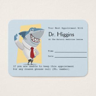 Lembrete de sorriso Toothy da nomeação do dentista Cartão De Visitas