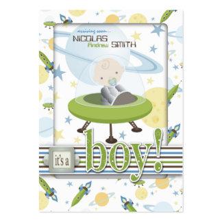 Lembrete Notecard B do bebê do espaço Cartão De Visita Grande