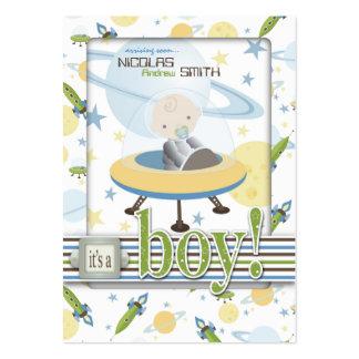 Lembrete Notecard do bebê do espaço Cartão De Visita Grande