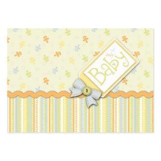 Lembrete precioso Notecard do bebê Cartão De Visita Grande
