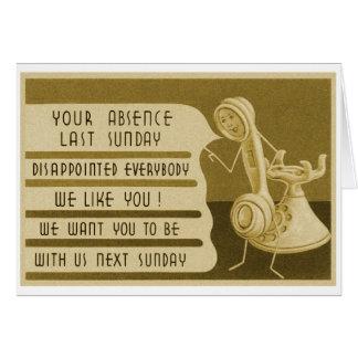 Lembrete retro da catequese da propaganda do cartão comemorativo