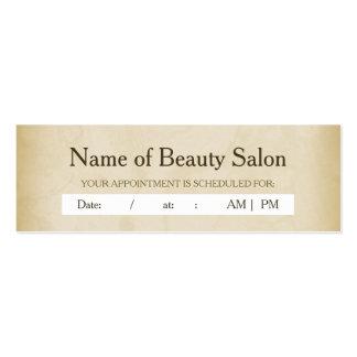 Lembrete simples da nomeação do cabeleireiro do Gr Cartoes De Visitas