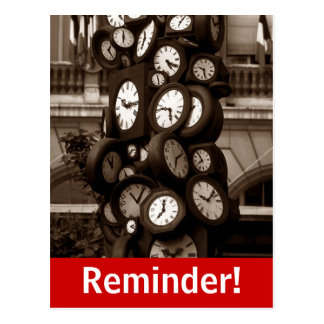 Lembrete visual da nomeação da horas do cartão