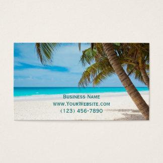Lembretes da nomeação da praia das palmeiras cartão de visitas