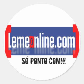LEMEONLINE AZUL RETANGULAR, SÓ PONTO COM!!! ADESIVO