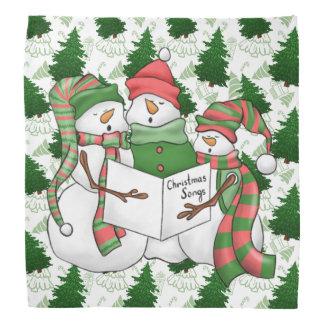 Lenço 3 Carolers do boneco de neve