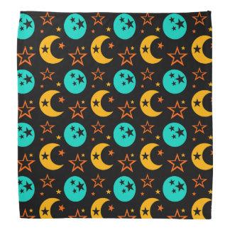 Lenço A lua Stars a astrologia estrelado Wiccan da