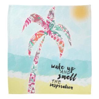 Lenço acorde e cheire a inspiração, a praia e a palma