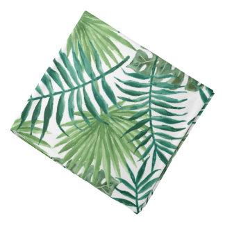 Lenço Aguarela tropical das folhas de palmeira