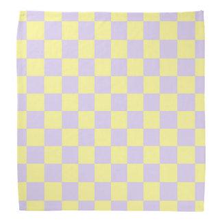 Lenço Amarelo macio Checkered e roxo