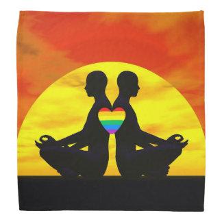 Lenço Amor alegre da ioga - 3D rendem