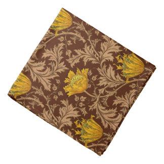 Lenço Anêmona de William Morris, Brown e ouro da