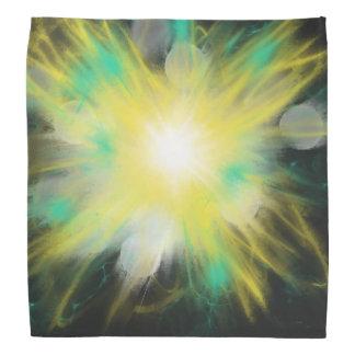Lenço Aqua amarelo da estrela na arte abstracta preta do