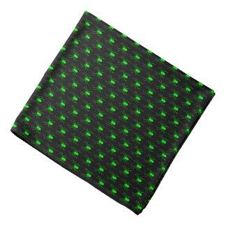 Lenço Aranhas do verde limão do Dia das Bruxas no preto