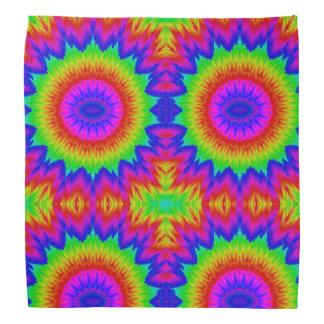 Lenço Arco-íris retro 1 da arte dos anos 70 do design da