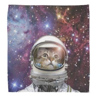 Lenço Astronauta do gato - gato louco - gato