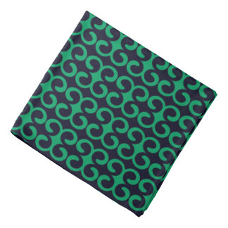 Lenço Azuis marinhos/teste padrão à moda verde irlandês